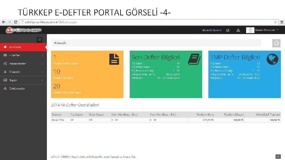 TÜRKKEP E-DEFTER PORTAL GÖRSELİ -4 -