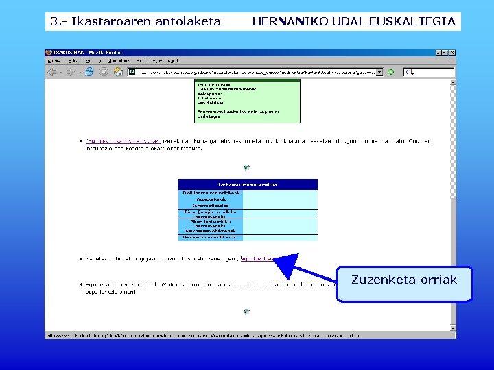 3. - Ikastaroaren antolaketa HERNANIKO UDAL EUSKALTEGIA Zuzenketa-orriak