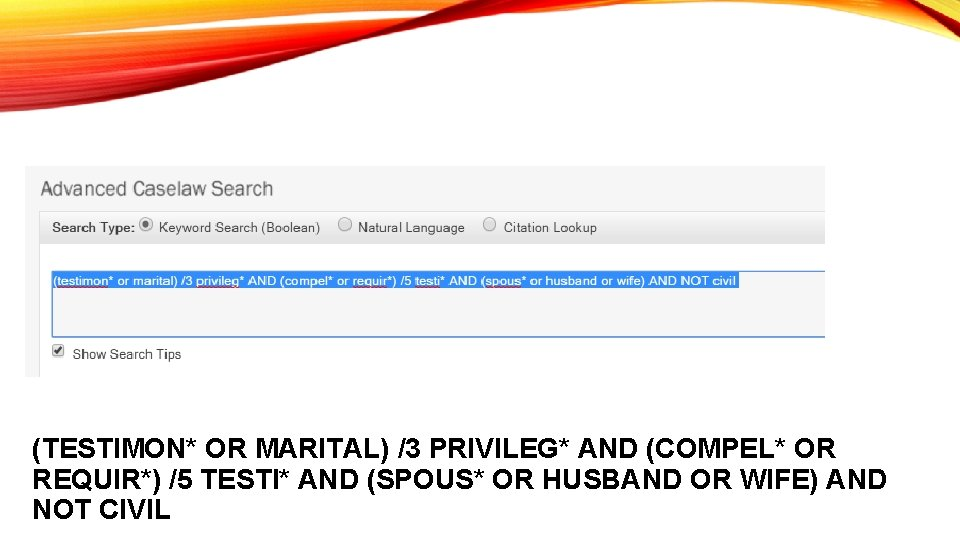 (TESTIMON* OR MARITAL) /3 PRIVILEG* AND (COMPEL* OR REQUIR*) /5 TESTI* AND (SPOUS* OR