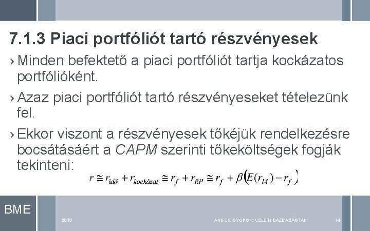 7. 1. 3 Piaci portfóliót tartó részvényesek › Minden befektető a piaci portfóliót tartja