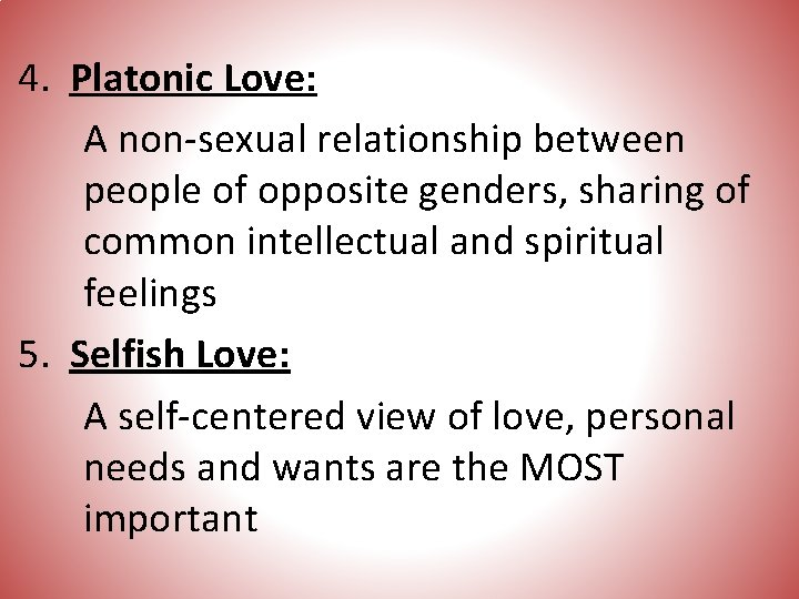 Is platonic love definition what What Is