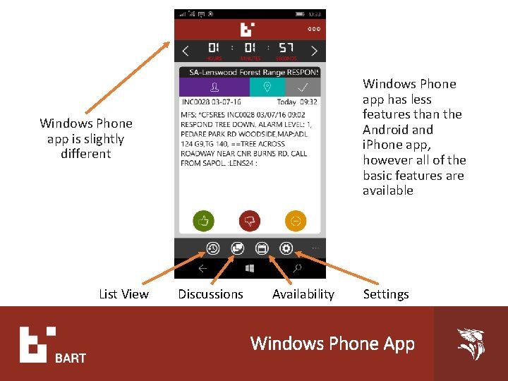 Windows Phone app has less features than the Android and i. Phone app, however
