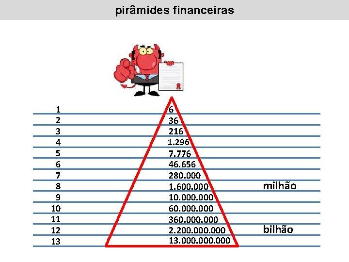 pirâmides financeiras 1 2 3 4 5 6 7 8 9 10 11 12