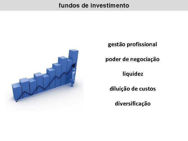 fundos de investimento gestão profissional poder de negociação liquidez diluição de custos diversificação