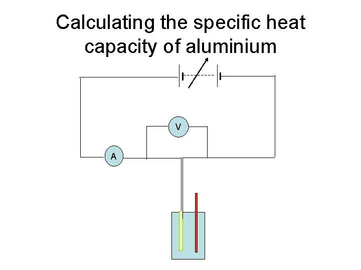 Calculating the specific heat capacity of aluminium V A
