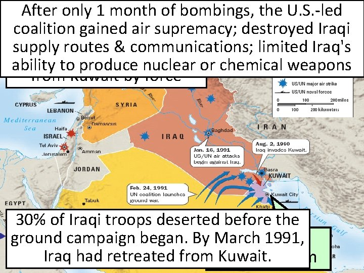 After only 1 month of bombings, U. S. -led U. S. Response #3: Iraq