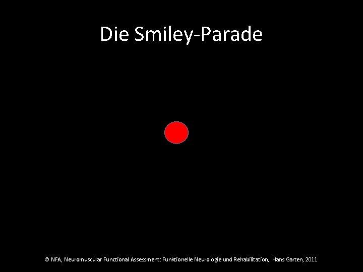 Die Smiley-Parade © NFA, Neuromuscular Functional Assessment: Funktionelle Neurologie und Rehabilitation, Hans Garten, 2011