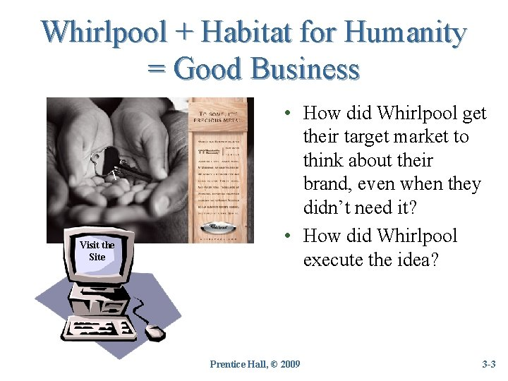 Whirlpool + Habitat for Humanity = Good Business  Visit the Site • How