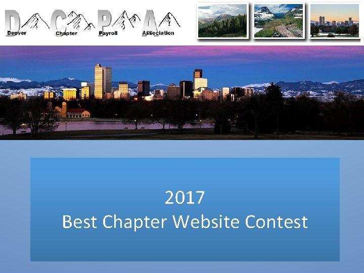 2017 Best Chapter Website Contest