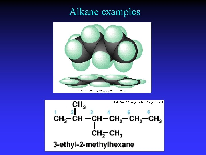 Alkane examples © Mc-Graw-Hill Companies, Inc. All rights reserved.