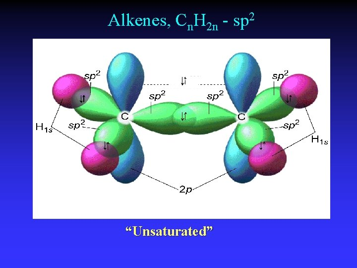"""Alkenes, Cn. H 2 n - sp 2 """"Unsaturated"""""""