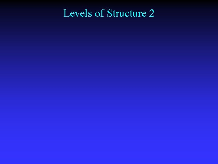 Levels of Structure 2