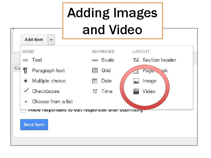Adding Images and Video