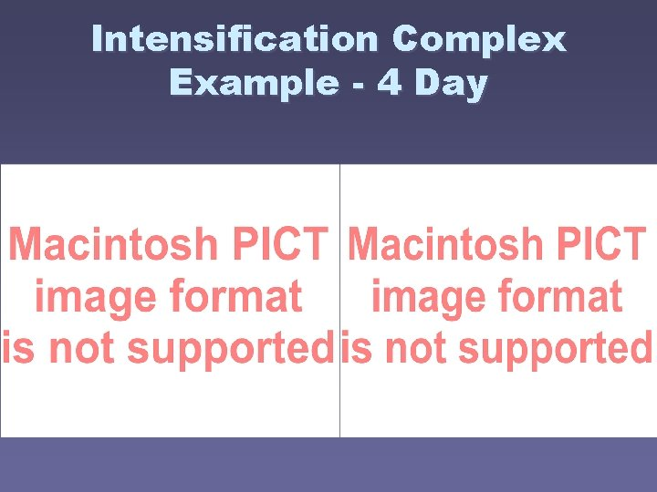 Intensification Complex Example - 4 Day