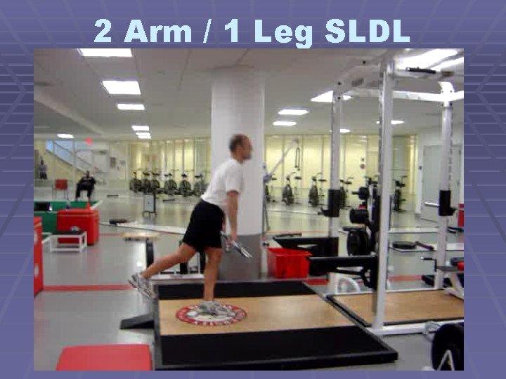 2 Arm / 1 Leg SLDL