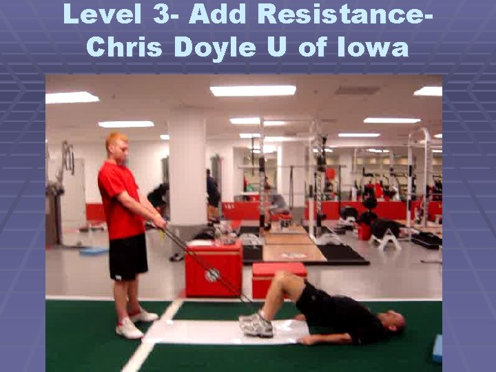 Level 3 - Add Resistance. Chris Doyle U of Iowa