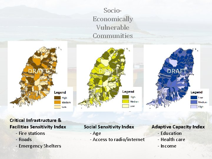 Socio. Economically Vulnerable Communities DRAFT Critical Infrastructure & Facilities Sensitivity Index - Fire stations