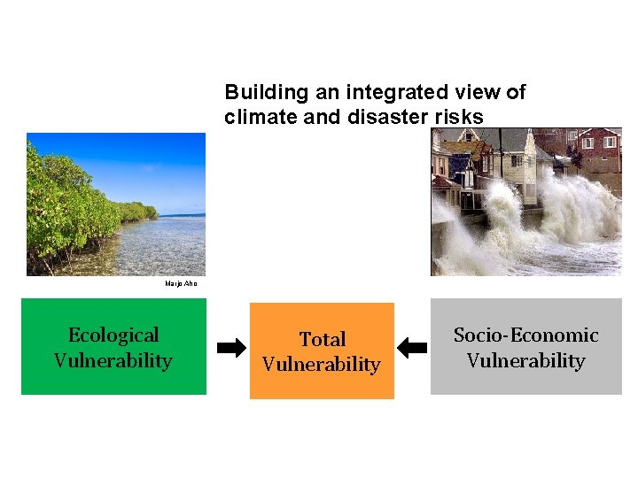 Building an integrated view of climate and disaster risks Marjo Aho Ecological Vulnerability Total