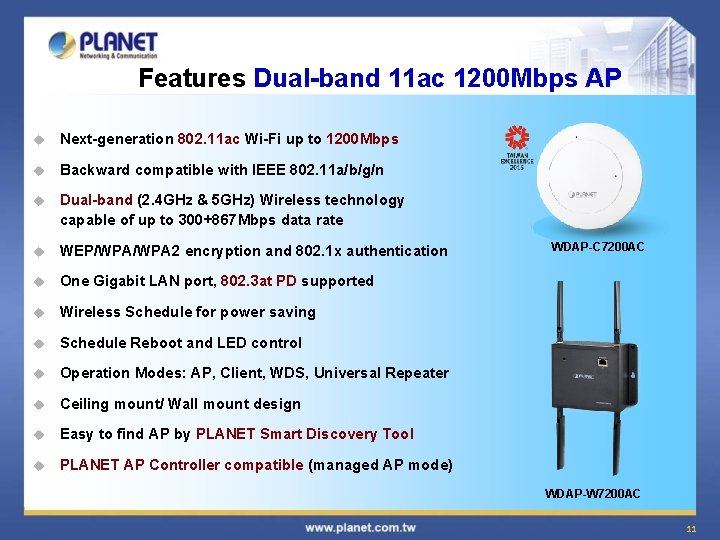 Features Dual-band 11 ac 1200 Mbps AP u Next-generation 802. 11 ac Wi-Fi up