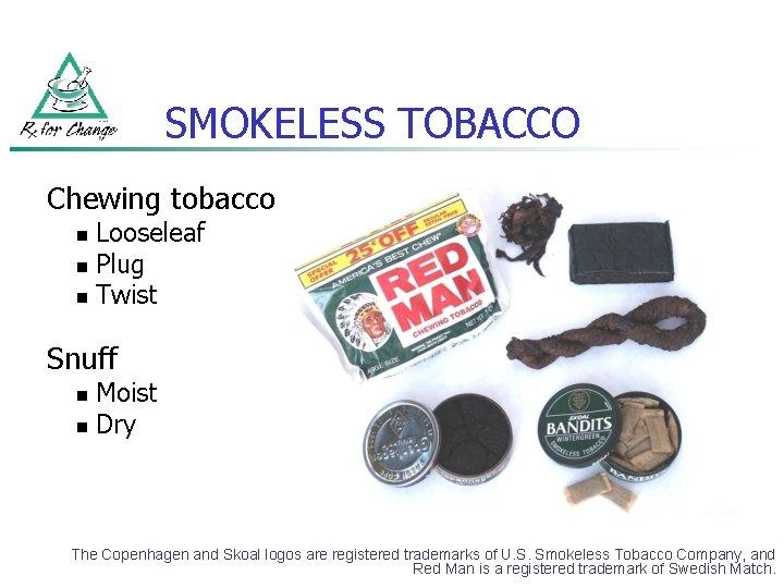 SMOKELESS TOBACCO Chewing tobacco Looseleaf n Plug n Twist n Snuff Moist n Dry