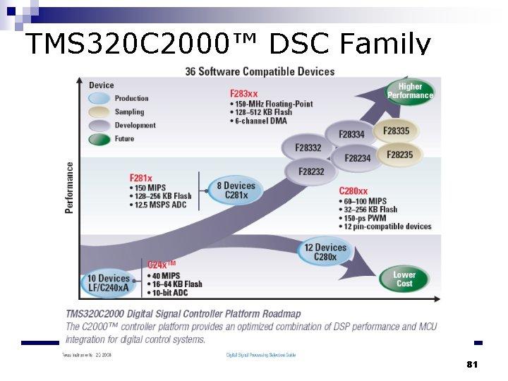 TMS 320 C 2000™ DSC Family 81