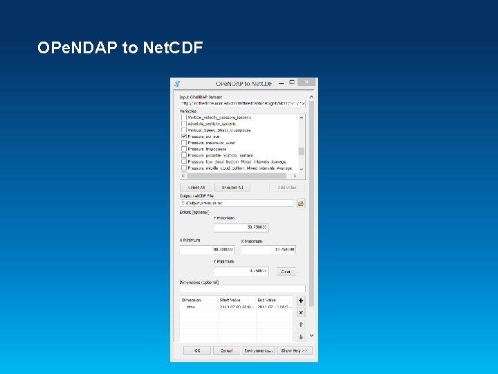 OPe. NDAP to Net. CDF