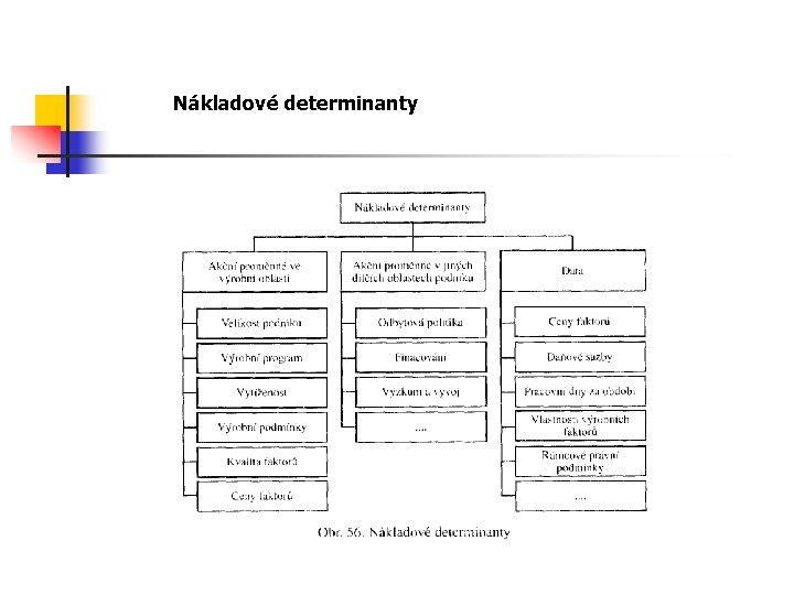 Nákladové determinanty