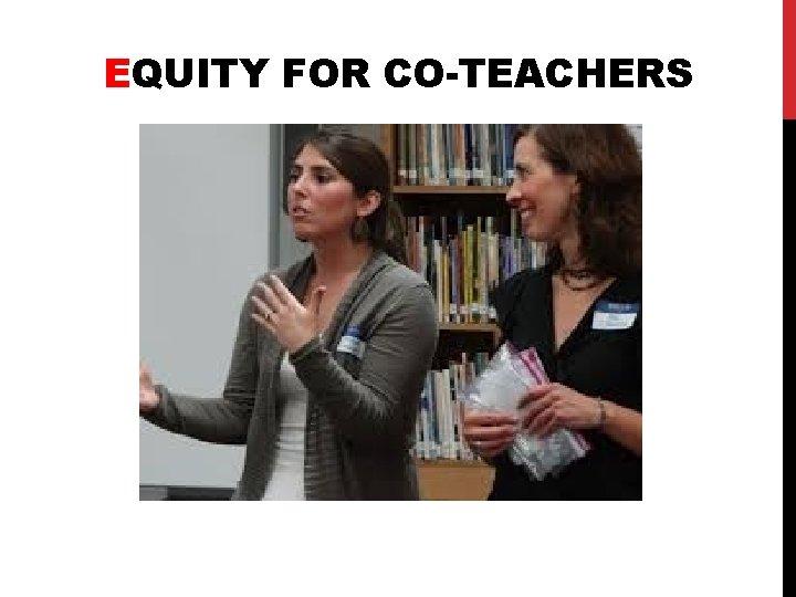 EQUITY FOR CO-TEACHERS