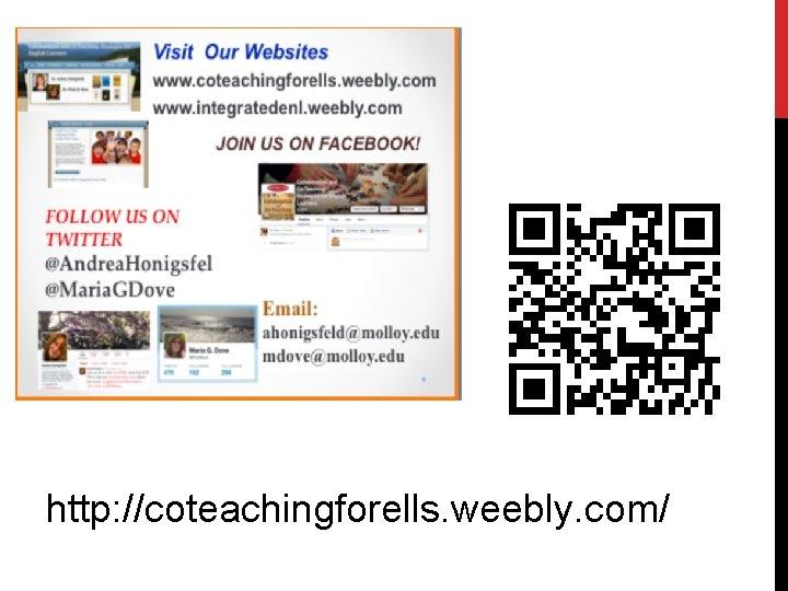 http: //coteachingforells. weebly. com/
