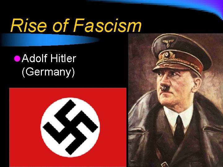 Rise of Fascism l Adolf Hitler (Germany)