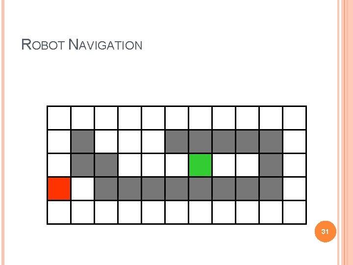 ROBOT NAVIGATION 31