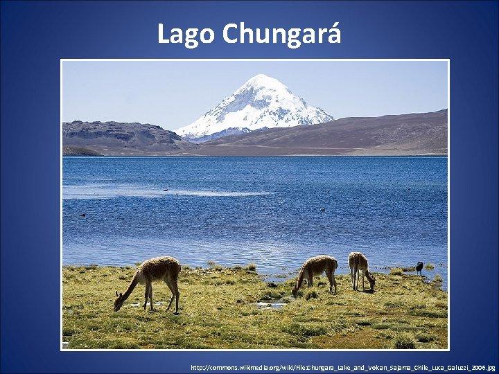 Lago Chungará http: //commons. wikimedia. org/wiki/File: Chungara_Lake_and_Volcan_Sajama_Chile_Luca_Galuzzi_2006. jpg