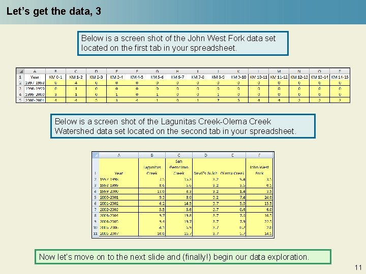 Let's get the data, 3 Below is a screen shot of the John West