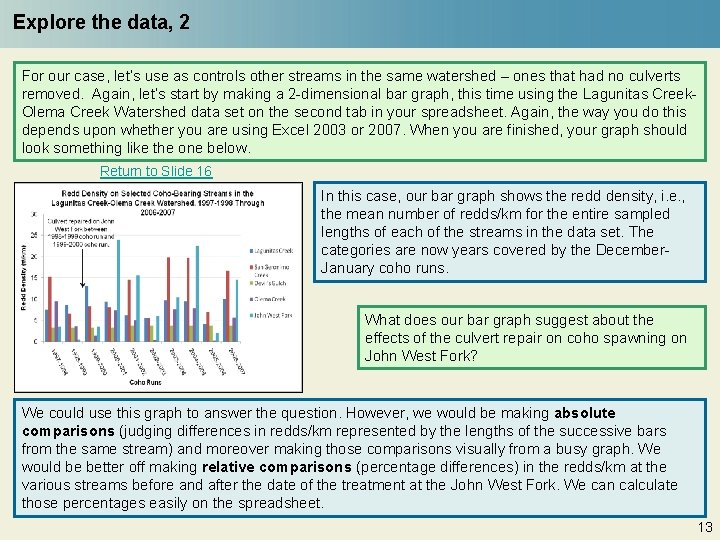 Explore the data, 2 For our case, let's use as controls other streams in