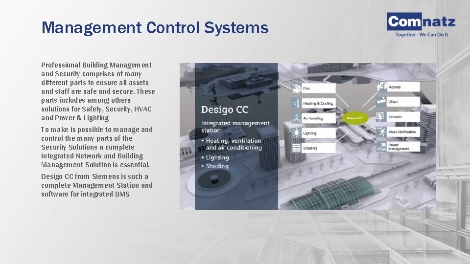 Management Control Systems Professional Building Management and Security comprises of many different parts to