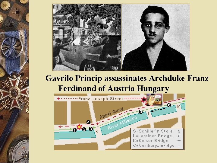 Gavrilo Princip assassinates Archduke Franz Ferdinand of Austria Hungary