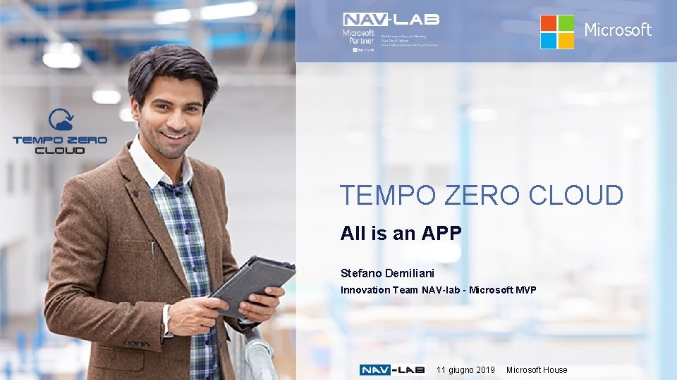 Microsoft TEMPO ZERO CLOUD All is an APP Stefano Demiliani Innovation Team NAV-lab -