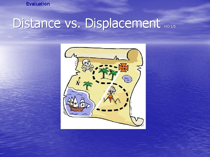Evaluation Distance vs. Displacement HO 1. 5