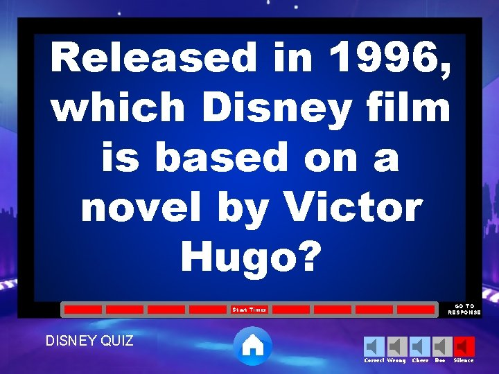 Released in 1996, which Disney film is based on a novel by Victor Hugo?