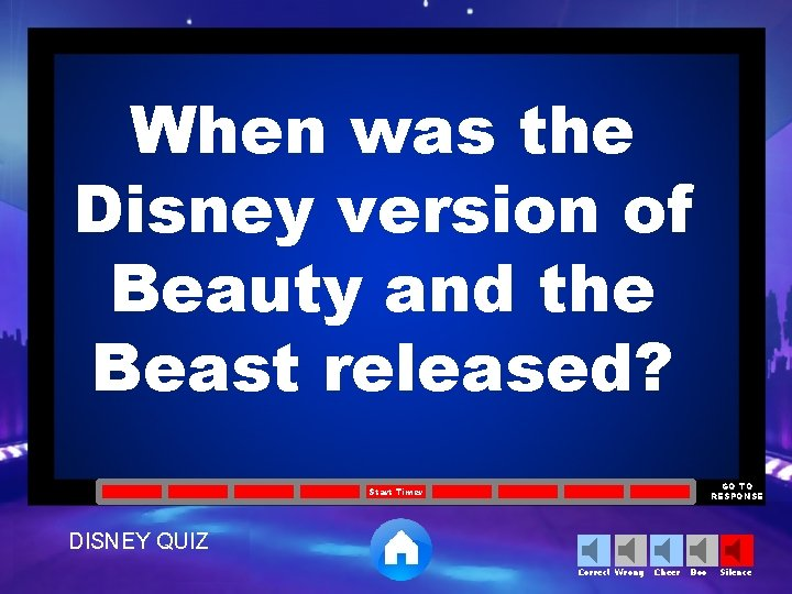 When was the Disney version of Beauty and the Beast released? GO TO RESPONSE