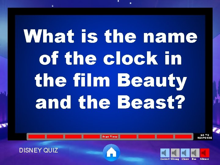 What is the name of the clock in the film Beauty and the Beast?
