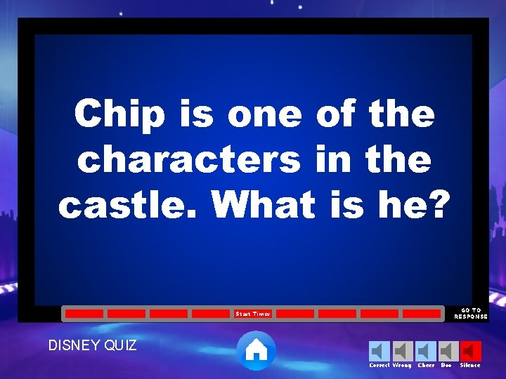 Chip is one of the characters in the castle. What is he? GO TO