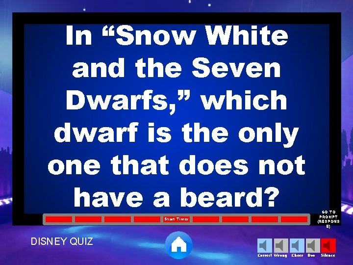 """In """"Snow White and the Seven Dwarfs, """" which dwarf is the only one"""