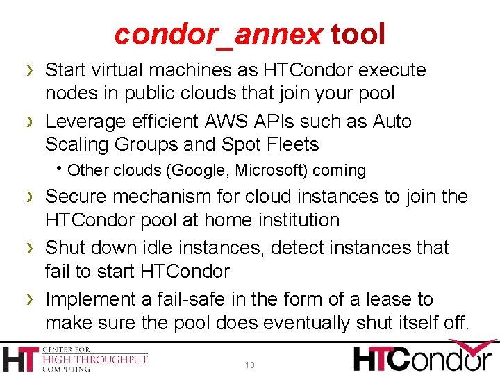 condor_annex tool › Start virtual machines as HTCondor execute › nodes in public clouds