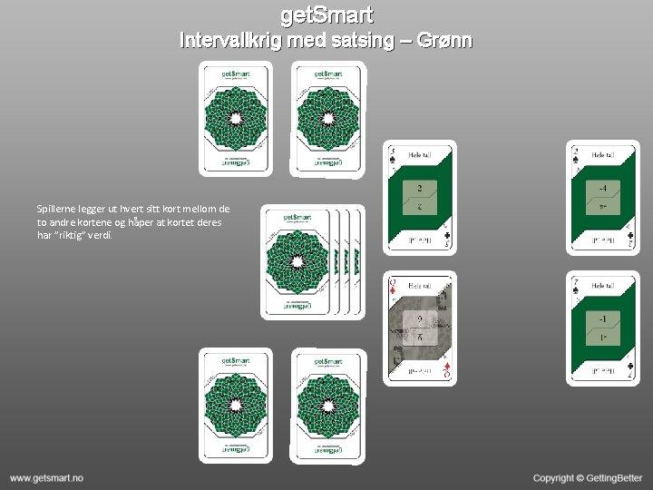 get. Smart Intervallkrig med satsing – Grønn Spillerne legger ut hvert sitt kort mellom