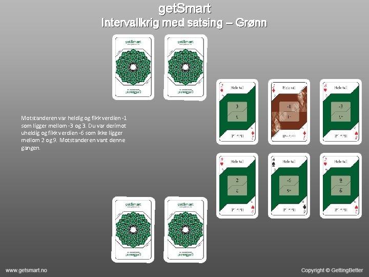get. Smart Intervallkrig med satsing – Grønn Motstanderen var heldig og fikk verdien -1