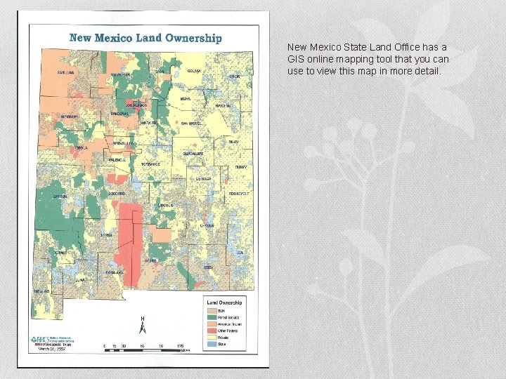 New Mexico State Land Office has a GIS online mapping tool that you can