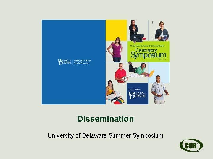Dissemination University of Delaware Summer Symposium