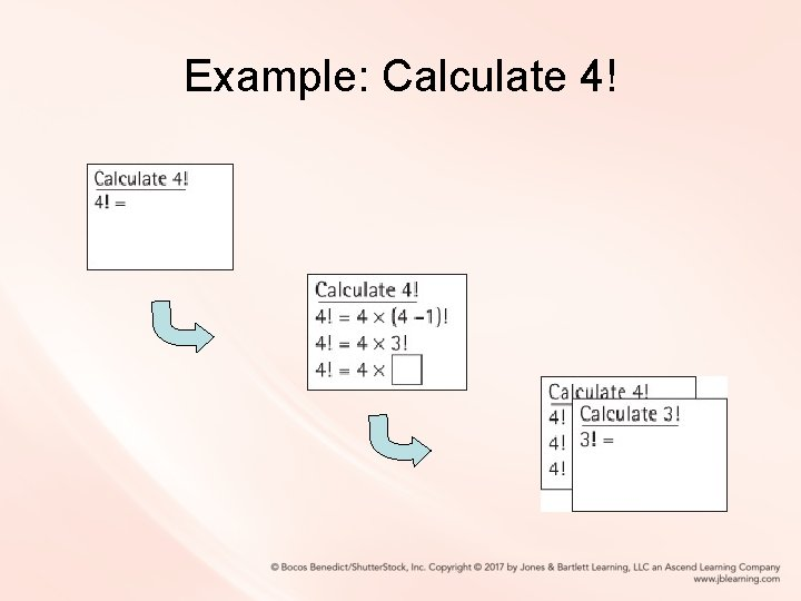 Example: Calculate 4!
