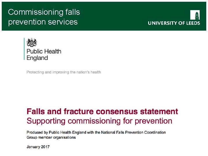 Commissioning falls prevention services